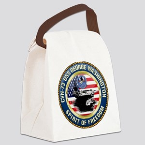 CVN-73 USS George Washington Canvas Lunch Bag