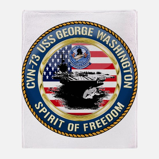 CVN-73 USS George Washington Throw Blanket