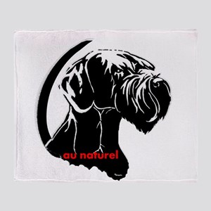 giant or schnauzer wag your tail Throw Blanket