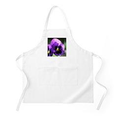 Purple Pansy BBQ Apron
