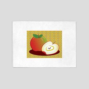 Framed Red Apple 5'x7'Area Rug