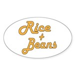 Rice And Beans Sticker (Oval 50 pk)