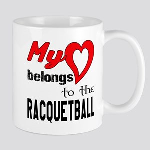 My Heart belongs to the Racquetb 11 oz Ceramic Mug