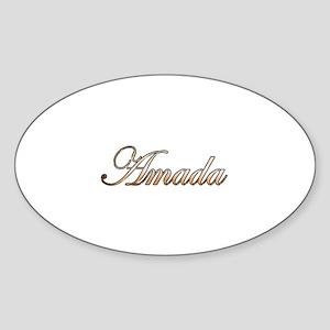Gold Amada Sticker (Oval)