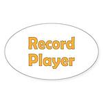Record Player Sticker (Oval 10 pk)