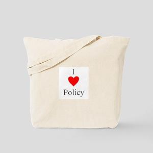 I Heart Policy Tote Bag