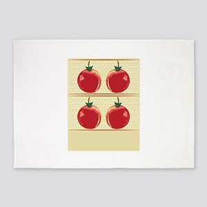 Abstract Apples 5'x7'Area Rug