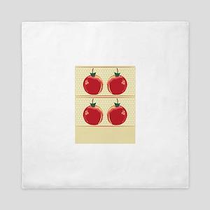 Abstract Apples Queen Duvet
