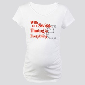 Swiss Timing Maternity T-Shirt