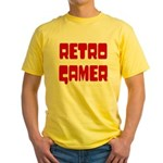 Retro Gamer Yellow T-Shirt