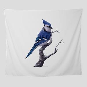 blue jay bird Wall Tapestry