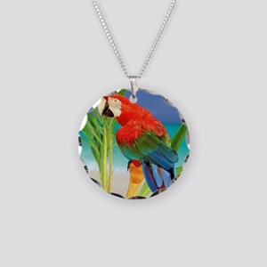 Parrot Necklace Circle Charm