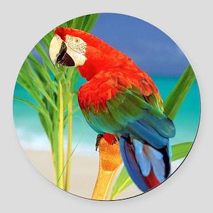 Parrot Round Car Magnet