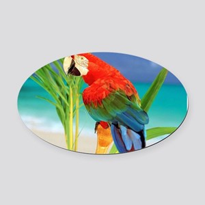 Parrot Oval Car Magnet