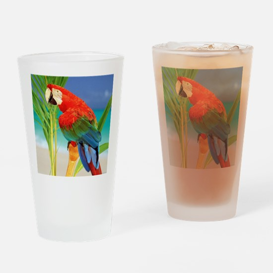 Parrot Drinking Glass