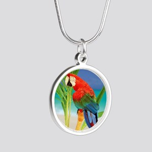 Parrot Silver Round Necklace