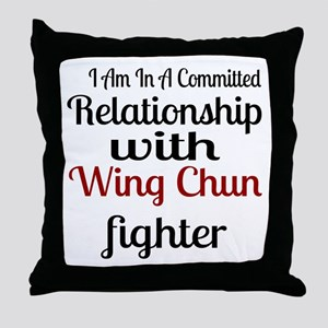 Relationship With Wing Chun Fighter Throw Pillow