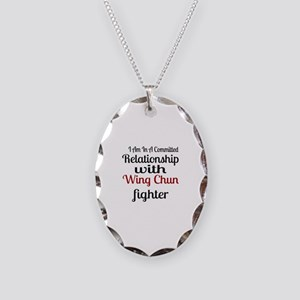 Relationship With Wing Chun Fi Necklace Oval Charm
