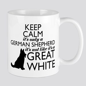 German Shephered NOT a Great White Mugs