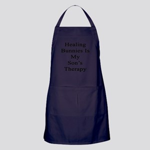 Healing Bunnies Is My Son's Therapy  Apron (dark)