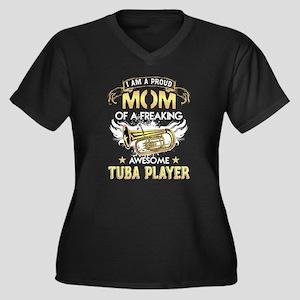 Proud Mom Of Tuba Player Tshirt Plus Size T-Shirt