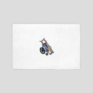 CrutchesWheelchair081210 4' x 6' Rug