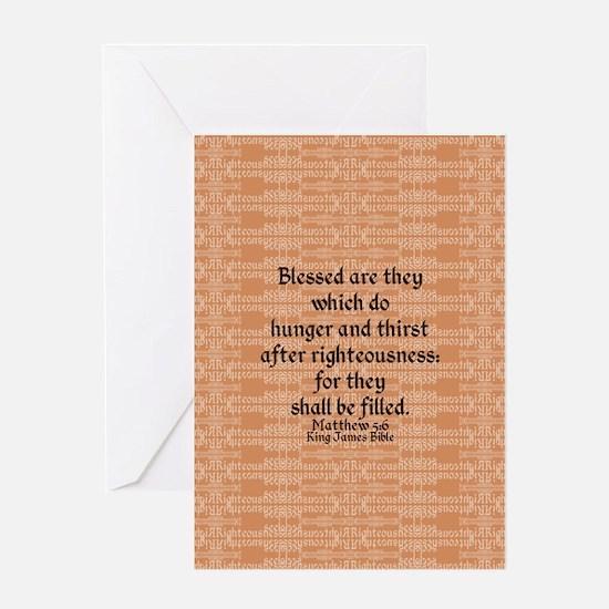 Matthew 5:6 Greeting Cards