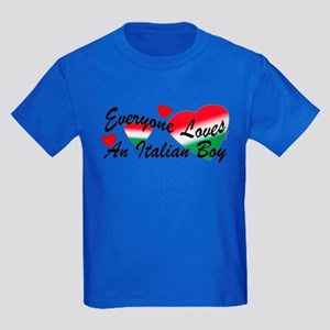 Loves an Italian Boy Kids Dark T-Shirt