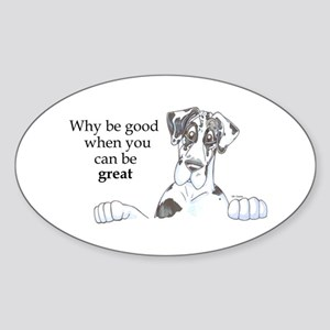 NH Why be good Oval Sticker