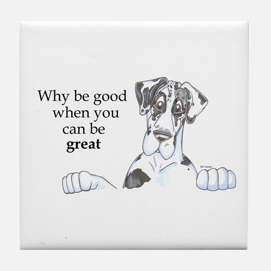 NH Why be good Tile Coaster