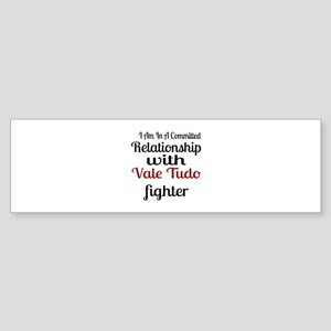 Relationship With Vale Tudo Fight Sticker (Bumper)