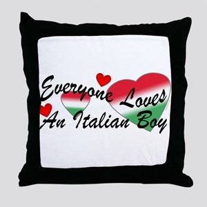 Loves an Italian Boy Throw Pillow