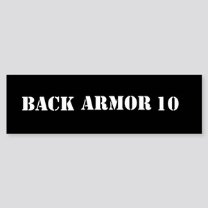 Back Armor Bumper Sticker