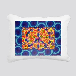 Flowers and peace Rectangular Canvas Pillow