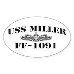 USS MILLER Sticker (Oval)