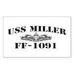 USS MILLER Sticker (Rectangle)
