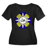 USS MILL Women's Plus Size Scoop Neck Dark T-Shirt