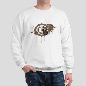 Drums with skull Sweatshirt