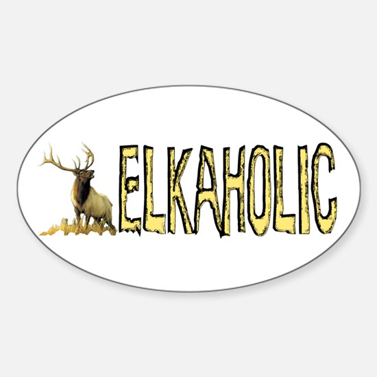Elkaholic Bumper stickers for Oval Decal
