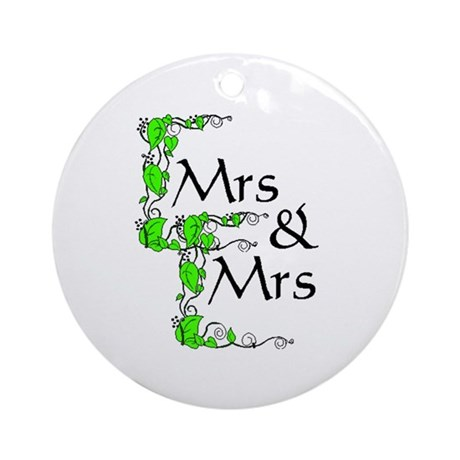 Mrs and Mrs Ornament (Round)