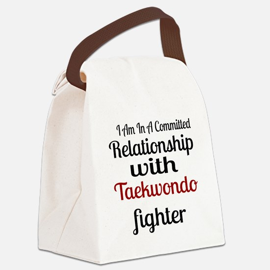 Relationship With Taekwondo Fight Canvas Lunch Bag