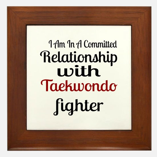 Relationship With Taekwondo Fighter Framed Tile