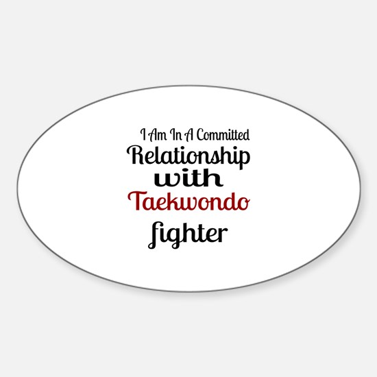 Relationship With Taekwondo Fighter Sticker (Oval)
