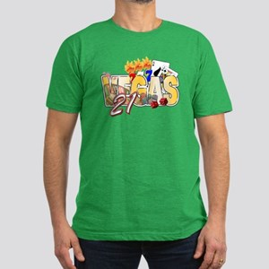 Vegas 21st Birthday Men's Fitted T-Shirt (dark)