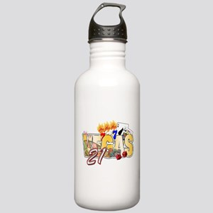 Vegas 21st Birthday Stainless Water Bottle 1.0L
