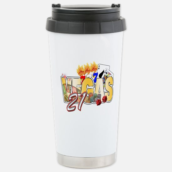 Vegas 21st Birthday Stainless Steel Travel Mug