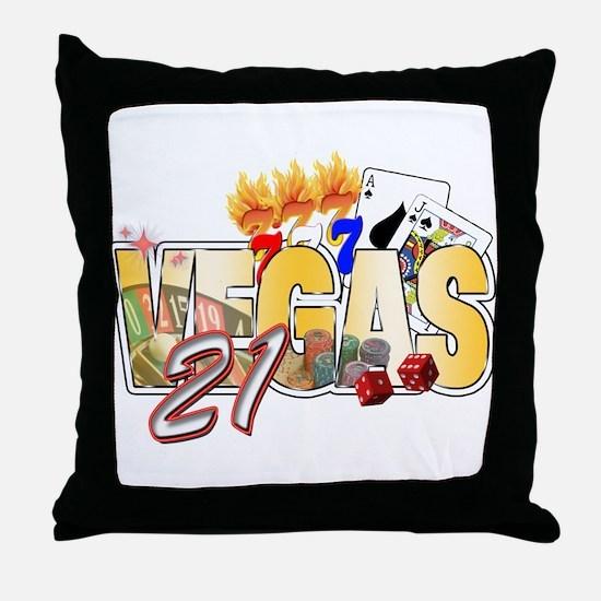 Vegas 21st Birthday Throw Pillow