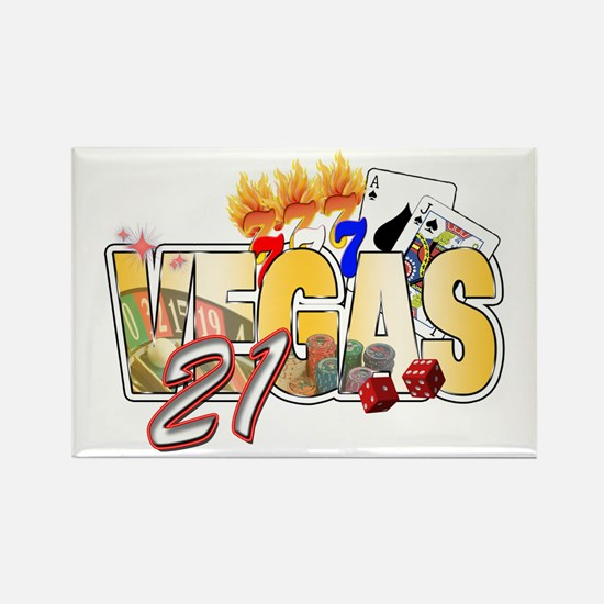 Vegas 21st Birthday Rectangle Magnet