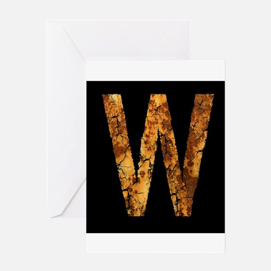 Typo Letter W Greeting Cards