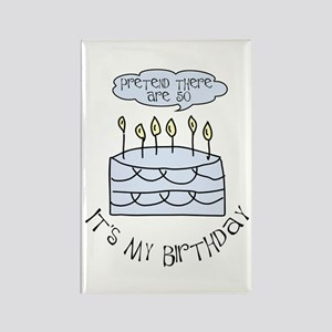 50th birthday 50 candles Rectangle Magnet